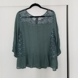 World Market Embroidered Blouse